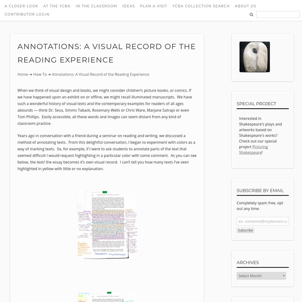 Annotations: A Visual Record of the Reading Experience