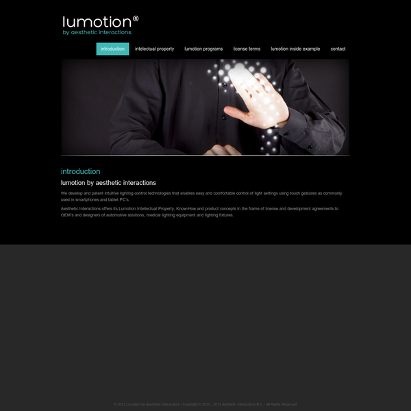 Lumotion by Aesthetic Interactions - introduction