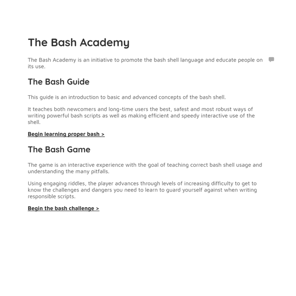 The Bash Academy