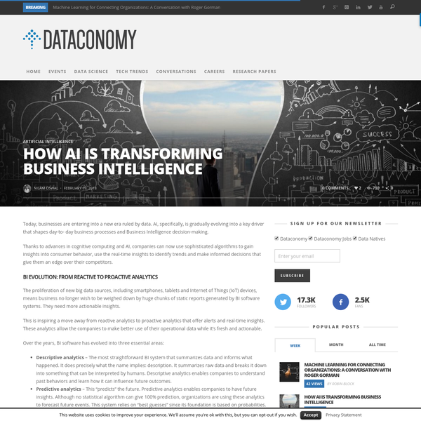 Today, businesses are entering into a new era ruled by data. AI, specifically, is gradually evolving into a key driver that shapes day-to- day business processes and Business Intelligence decision-making. Thanks to advances in cognitive computing and AI, companies can now use sophisticated algorithms to gain insights into consumer behavior,