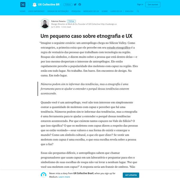Um pequeno caso sobre etnografia e UX - UX Collective Brasil