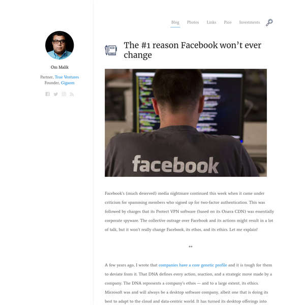 Facebook's (much deserved) media nightmare continued this week when it came under criticism for spamming members who signed up for two-factor authentication. This was followed by charges that its Protect VPN software (based on its Onava CDN) was essentially corporate spyware.