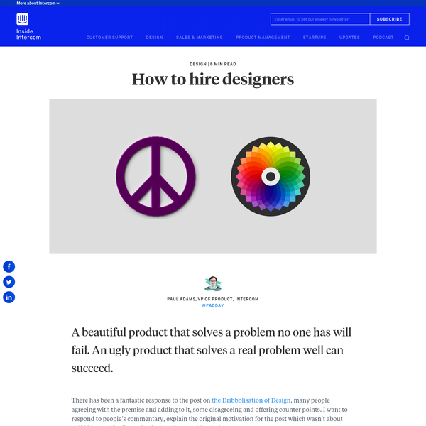 How to hire designers - Inside Intercom