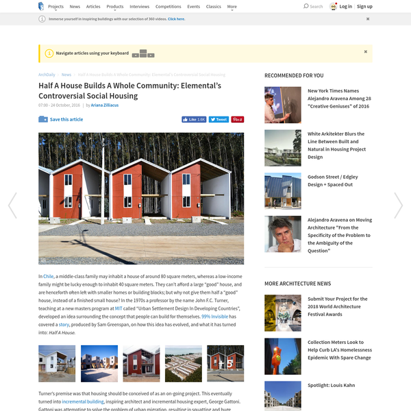 Half A House Builds A Whole Community: Elemental's Controversial Social Housing