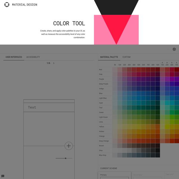 Color Tool - Material Design