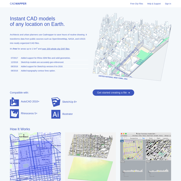Cadmapper lets anyone create 3D CAD files of any area in the world within minutes.