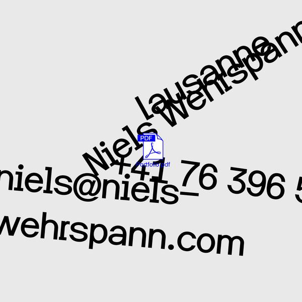 Niels Wehrspann design graphique