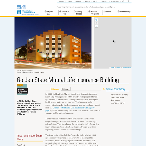 What became the Golden State Mutual Life Insurance Company was founded in 1925 by William Nickerson, Jr.; Norman Oliver Houston; and George Allen Beavers, Jr. It was one of the first companies to offer life insurance to African Americans in Los Angeles, who were routinely denied coverage.