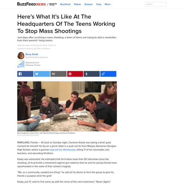 Here's What It's Like At The Headquarters Of The Teens Working To Stop Mass Shootings