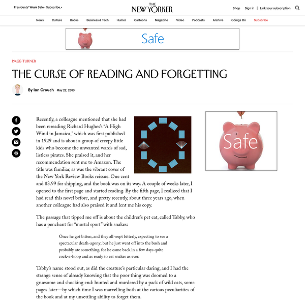 The Curse of Reading and Forgetting