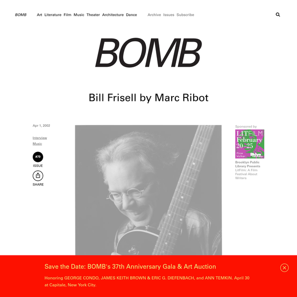 Bill Frisell by Marc Ribot - BOMB Magazine