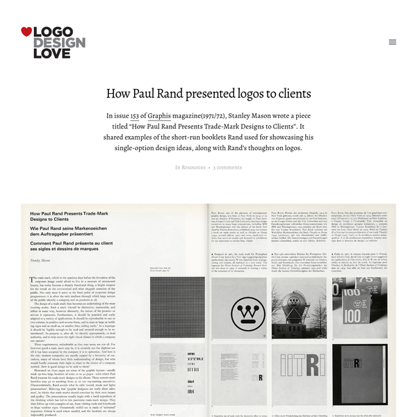 How Paul Rand presented logos to clients | Logo Design Love
