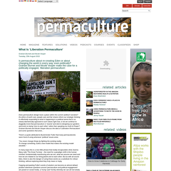 What Is 'Liberation Permaculture'