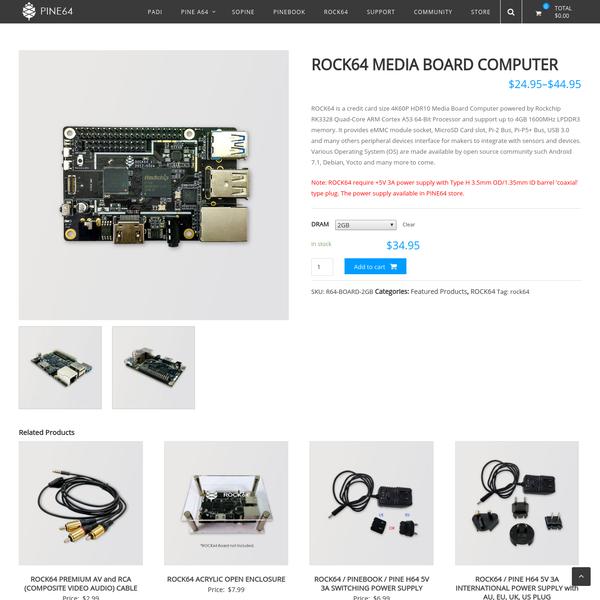 Are na / ROCK64 MEDIA BOARD COMPUTER