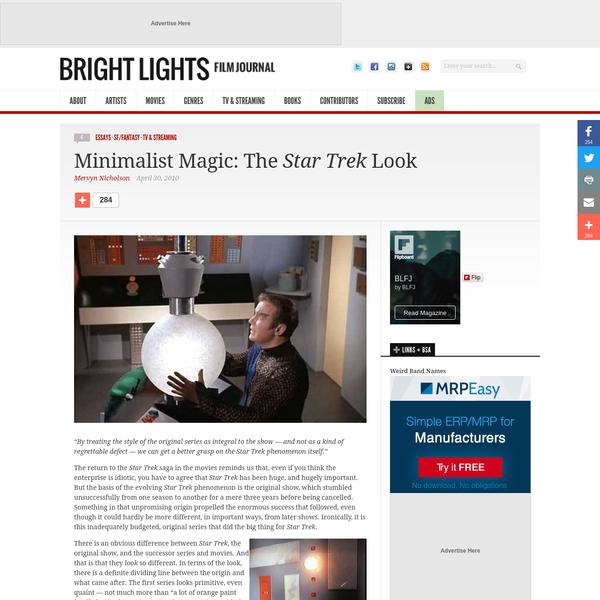 Minimalist Magic: The Star Trek Look - Bright Lights Film Journal