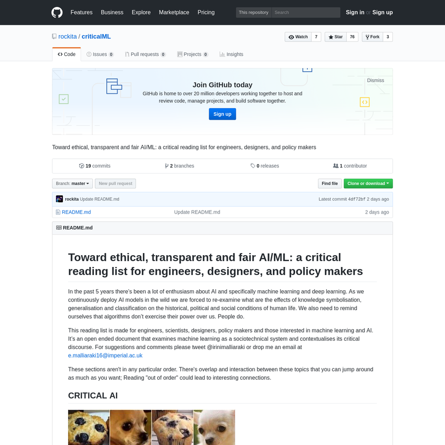 criticalML - Toward ethical, transparent and fair AI/ML: a critical reading list for engineers, designers, and policy makers