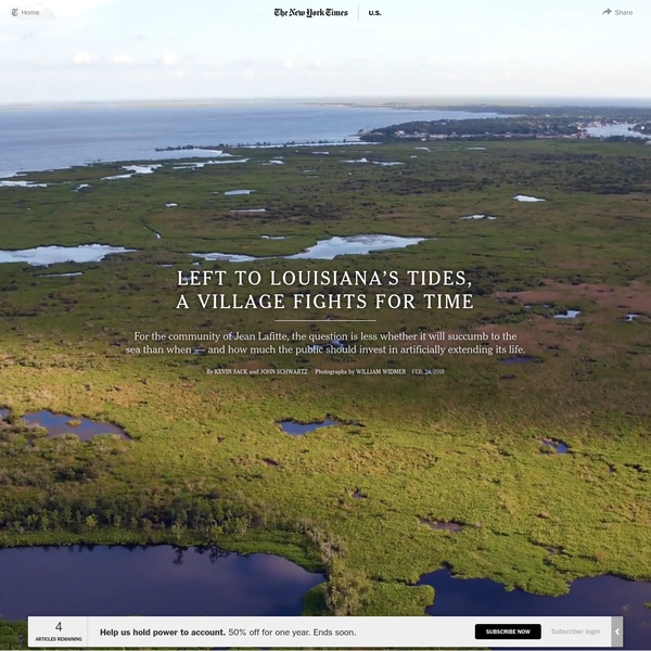 JEAN LAFITTE, La. - From a Cessna flying 4,000 feet above Louisiana's coast, what strikes you first is how much is already lost. Northward from the Gulf, slivers of barrier island give way to the open water of Barataria Bay as it billows toward an inevitable merger with Little Lake, its name now a lie.