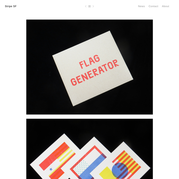 Flag Generator Designed by Jon Sueda and Chris Hamamoto (10) 11 x 14 3 color Risograph prints + Index Printed by Colpa Press Jon Sueda and Chris Hamamato separate the graphic elements of the flags from the countries and states they have...