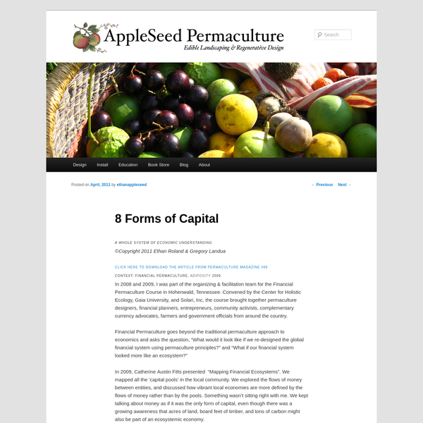 8 Forms of Capital - AppleSeed Permaculture