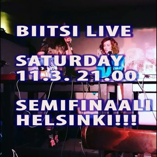Biitsi live at music video launch, Mascot, Helsinki, Dxxxa D & Hzzzt, feat. Minkki + Biitsi: Le courateur-singlen+ musavideon julkkarit.Tuplalive!