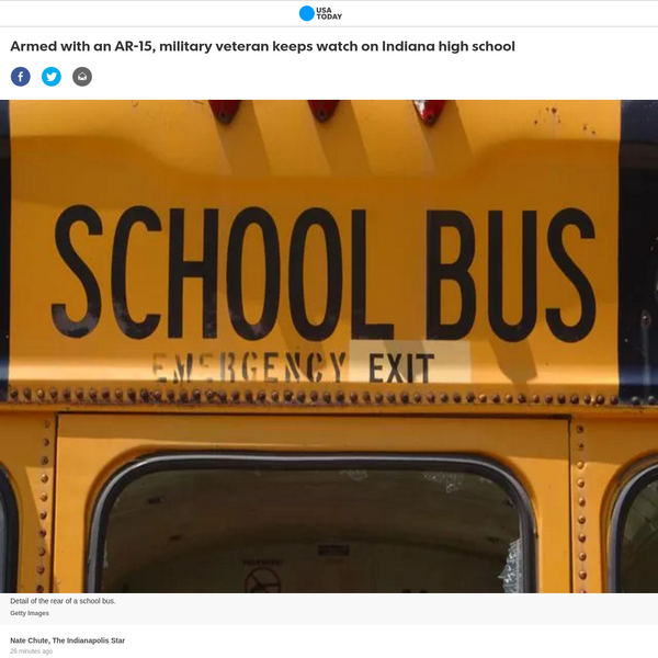 """We take the security of our schools very seriously. We understand he has a right to be out there, but we do not believe it adds to the safety of our students,"" Fort Wayne Community Schools said in a statement. ""At North Side, as at all of our schools, we have security procedures in place."