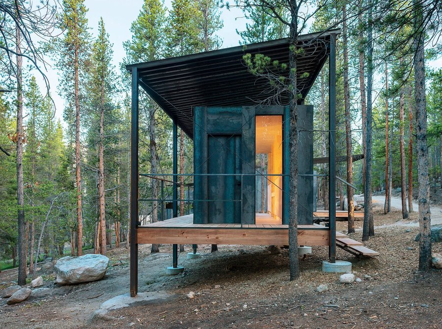 Outward Bound Prefab Cabin, Colorado