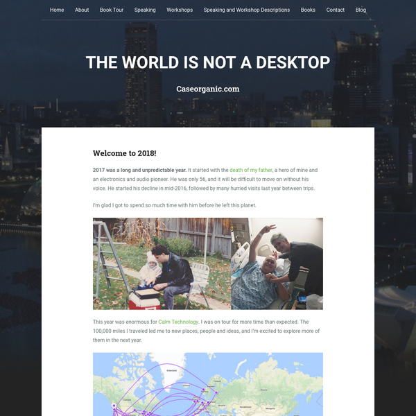 The World is not a desktop