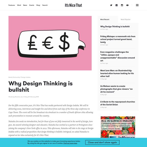 Why Design Thinking is bullshit