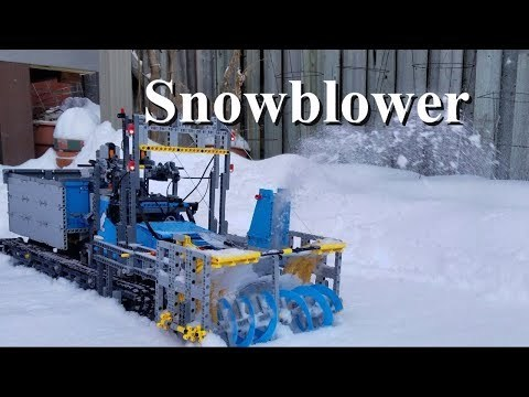 Let it snow, we are ready! Lego Snowblower- awesome working machine. Modified Lego Tow truck with tracks and custom made Snowblower now is ready for snow. 👍Thanks for watching ❤️Like, Comment, Share and Subscribe.