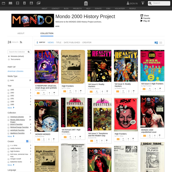 Mondo 2000 History Project : Free Texts : Download & Streaming : Internet Archive