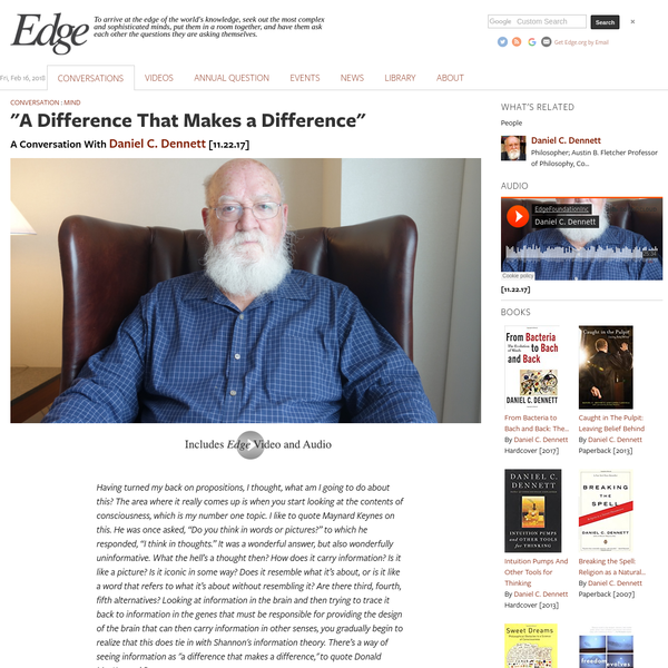"""""""A Difference That Makes a Difference"""""""