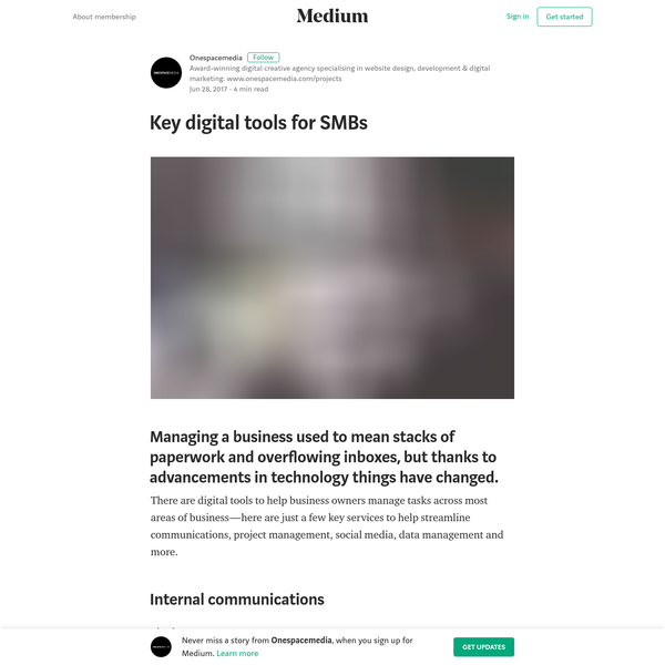There are digital tools to help business owners manage tasks across most areas of business - here are just a few key services to help streamline communications, project management, social media, data management and more. Slack Slack is a web, iPhone, and Android app designed to streamline internal communications and foster collaboration.