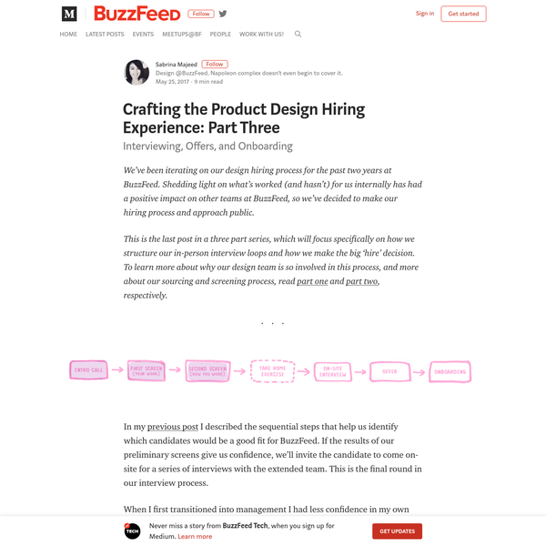 Crafting the Product Design Hiring Experience: Part Three
