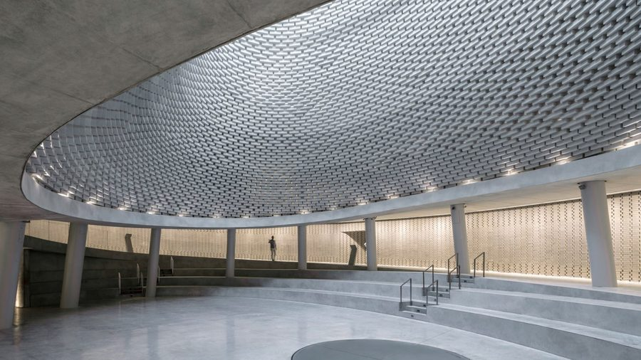 Spiralling memorial by Kimmel Eshkolot Architects is dedicated to Israeli soldiers
