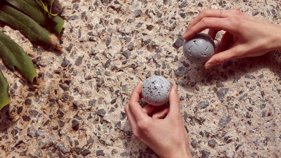 Kia Utzon-Frank creates Brutalist-inspired marshmallow treats