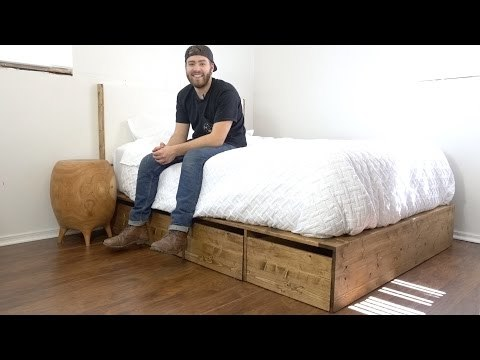 Today on Modern Builds, we're building a simple, mid-century inspired platform style bed with A LOT of under-bed storage. If you plan on building this project, be sure to check out the written article for more information. Special thank so RZ Mask for sponsoring this video.