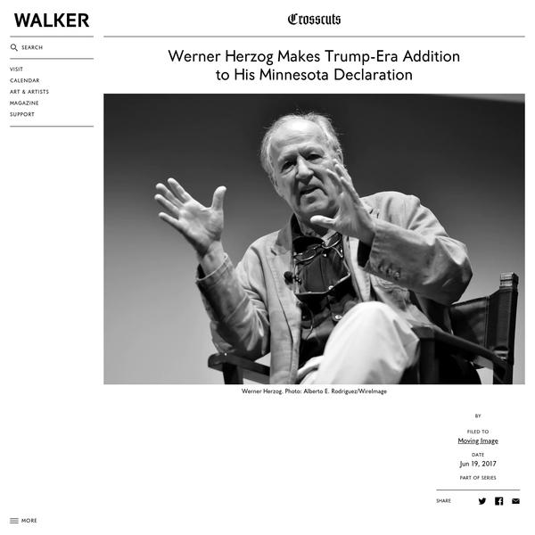 Werner Herzog Makes Trump-Era Addition to His Minnesota Declaration
