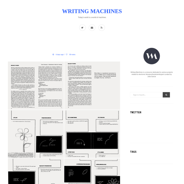 Writing Machines - Today's world is a world of machines
