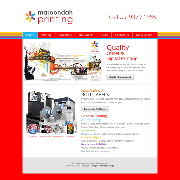 Maroondah Printing - Quality Offset and Digital printing - Ringwood and Eastern Suburbs of Melbourne