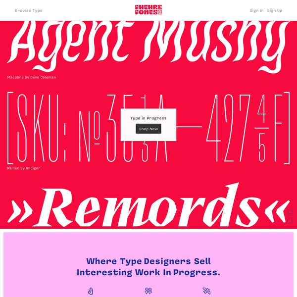 A new way to license typefaces while they are still in progress.