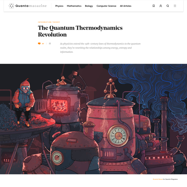 The Quantum Thermodynamics Revolution | Quanta Magazine