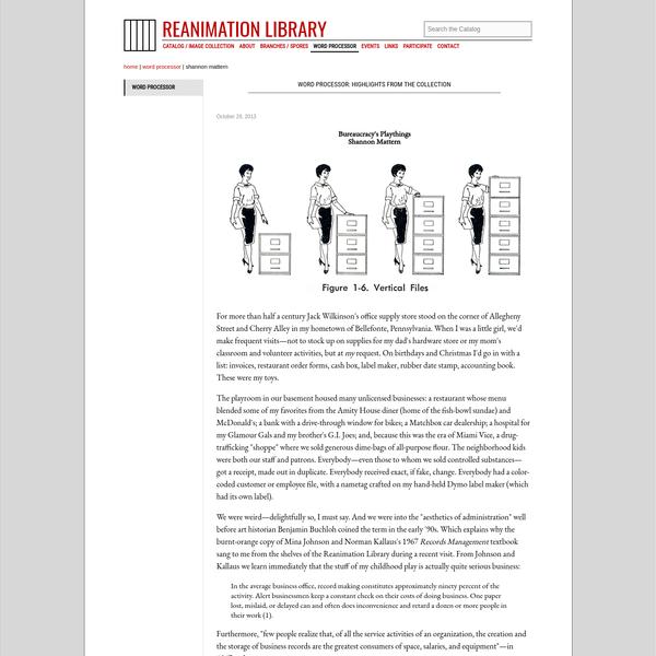 Reanimation Library - Word Processor - Shannon Mattern