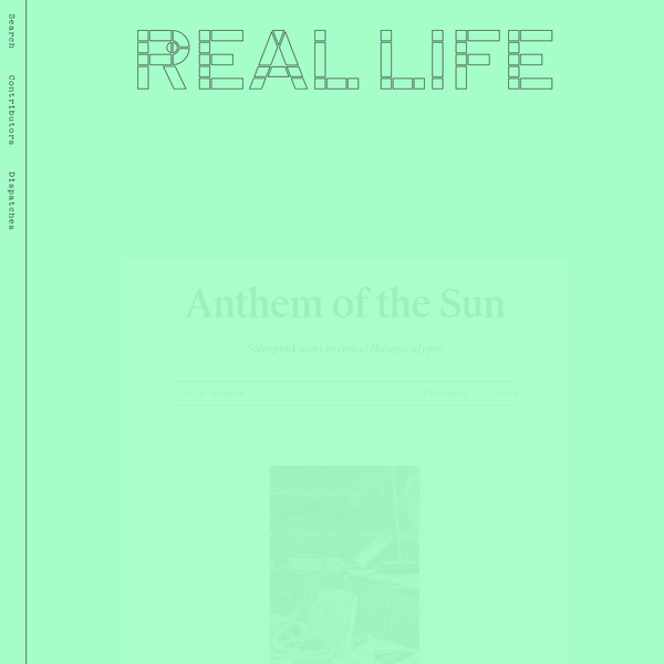 Anthem of the Sun - Real Life