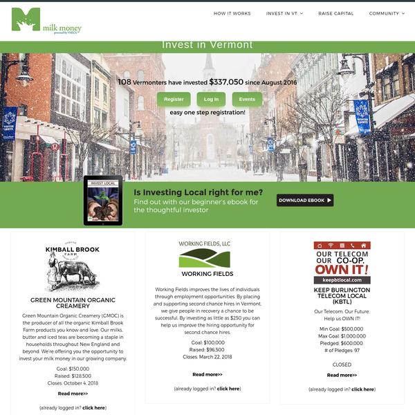 Bringing Vermont Entrepreneurs and Investors together