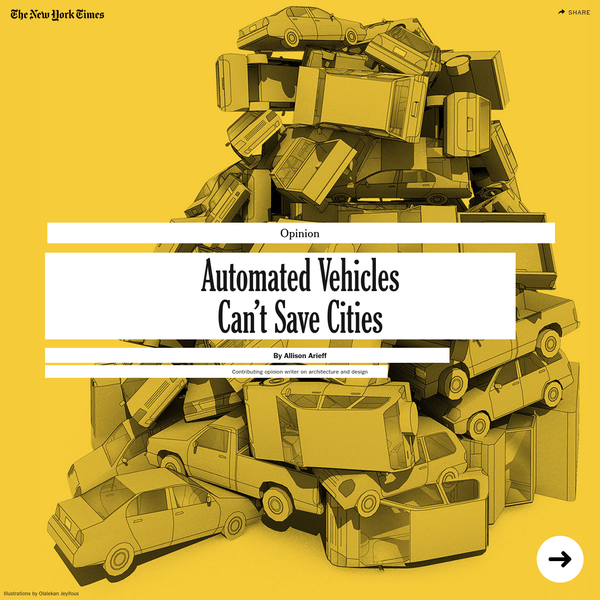 Opinion   Automated Vehicles Can't Save Cities