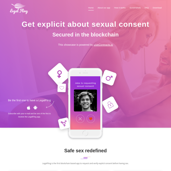 Powered by LiveContracts.io · Secured in the Blockchain