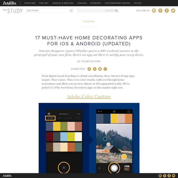 From digital mood boarding to virtual consultation, these interior design apps inspire. They source. They even color swatch, walk you through home renovations and allow you preview objects in 3D augmented reality. We've picked 17 of the best home decoration apps on the market right now.