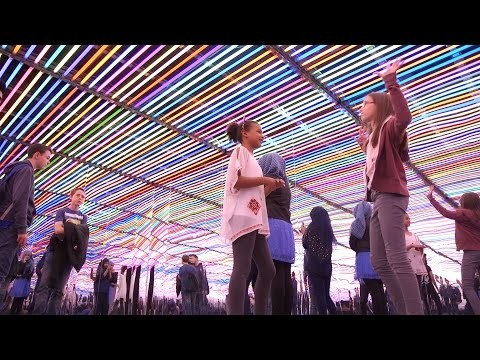 Liz West installation with LEE Fluorescent Sleeves
