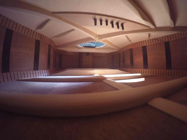 Inside a guitar