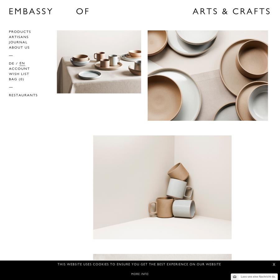 Online-Store mit einer exklusiven Auswahl handgefertigter Keramik für den alltäglichen Gebrauch. Teller, Schalen, Tassen, Kannen und weitere Produkte von international gefragten Keramikern und Manufakturen wie Luke Eastop, Jono Smart, Takashi Endo, Humble Ceramics und Hasami Porcelain.